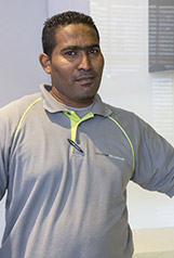 Terence Kandasamy <br />Site Manager
